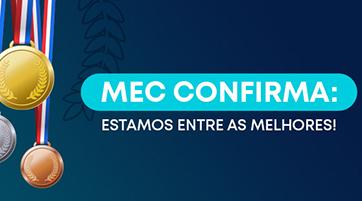 MEC confirma: nossas Instituições seguem entre as melhores!